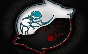 Cherokee-stammens vargsymbol