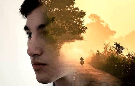 Ensam motorcyklist