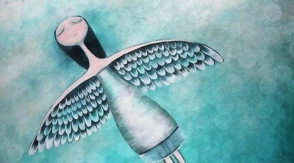 Flygande ängel