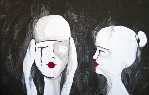 Gråtande personer
