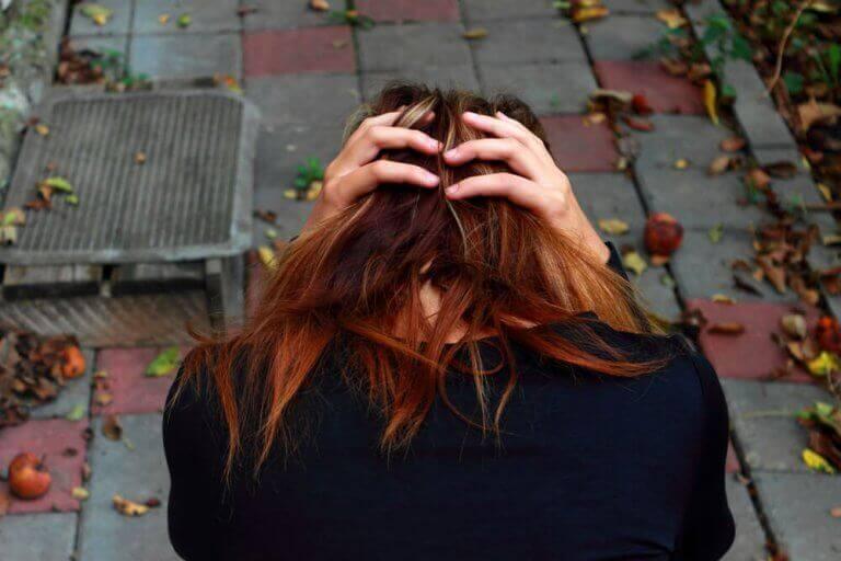 Kvinna med ångestattack
