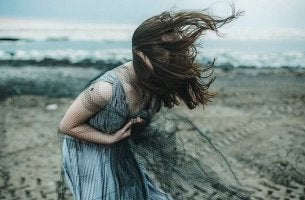 Kvinna med vånda