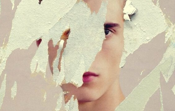 Man med bristfällig självbild