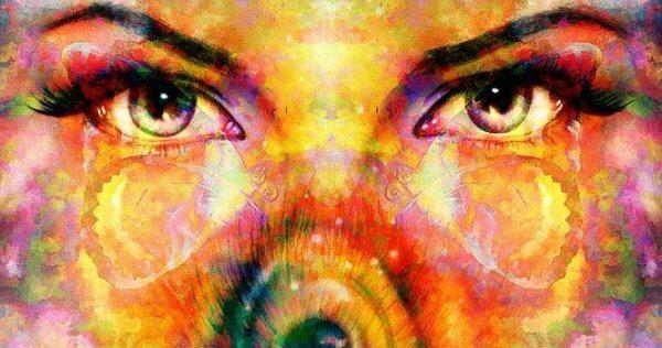 Ögon representerande citat av Suzanne Powell