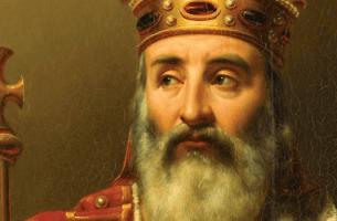 Karl den store med krona.
