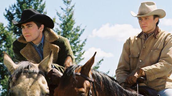Män på hästar.