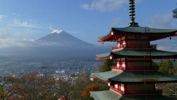 Mt Fuji representerar japanska ordspråk