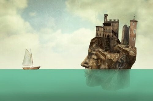 Ett huvud som är en ö