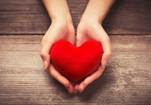 Hjärta i hand