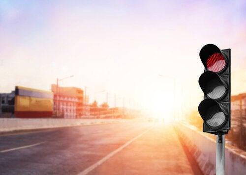 Konstant rött trafikljus