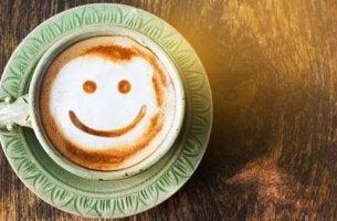 Leende kaffekopp