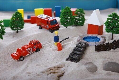 Lek i sand