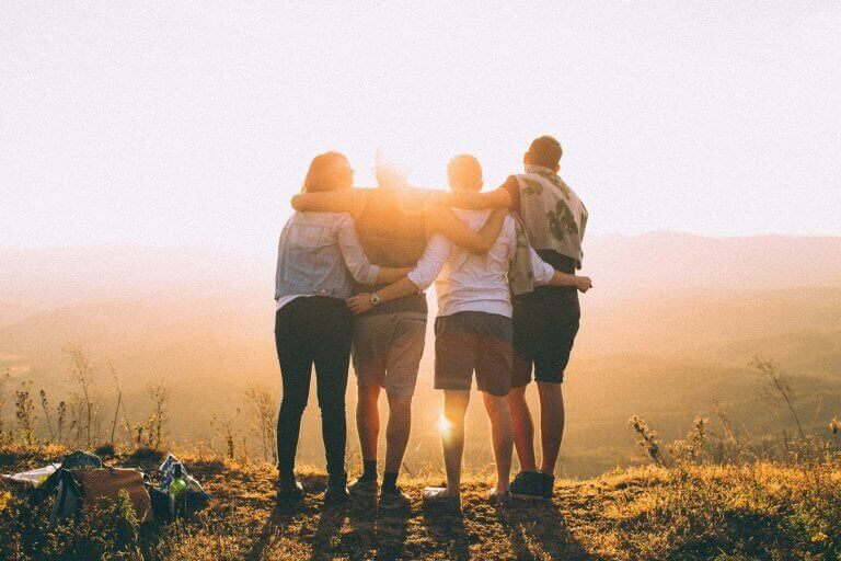 Vänner i naturen