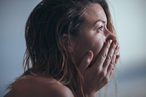 Kvinna med djup depression