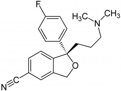 Kemisk struktur av escitalopram.