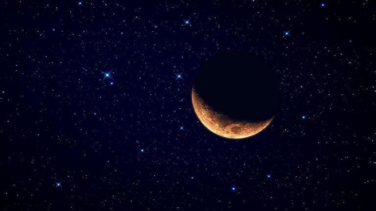Måne på himmel.