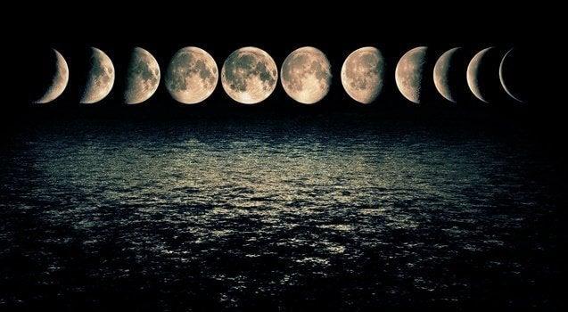 Månens olika faser.