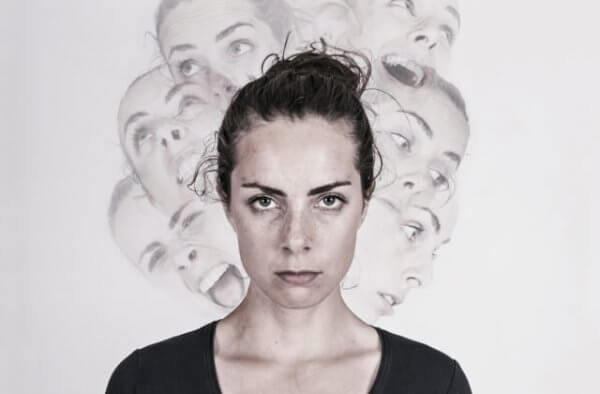 Kvinna med schizofreni