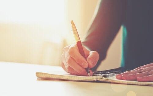 Skriv ned dina mål