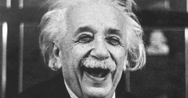 Albert Einstein glad