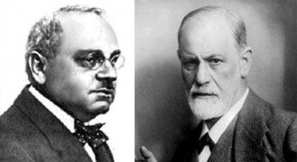 Alfred Adler och Freud.