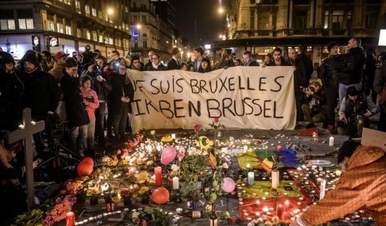 Terrorismens skugga visade sig i Bryssel.