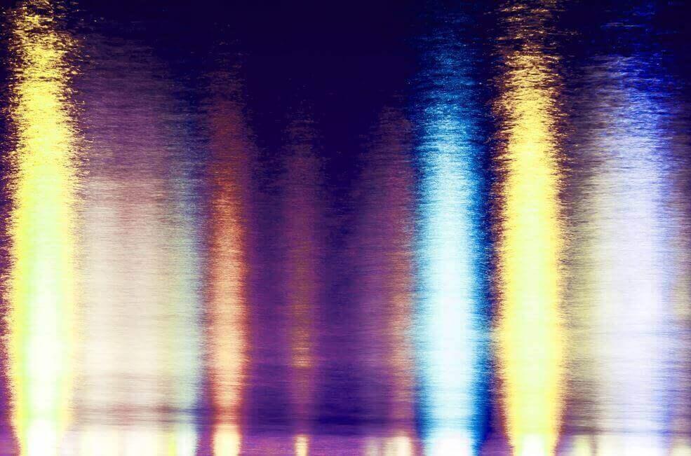 färgglada ljusreflektioner
