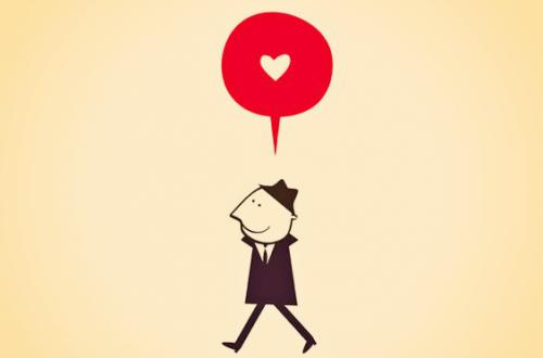 Man som tanker på kärlek