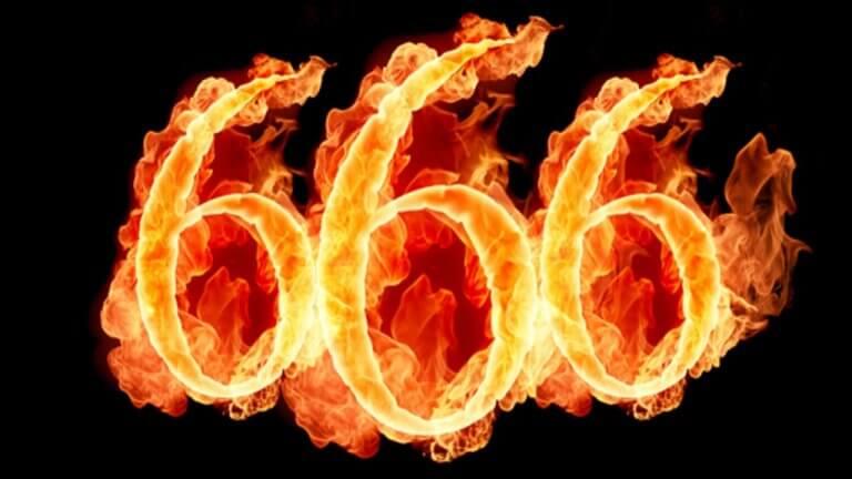 Nummer 666 som brinner.