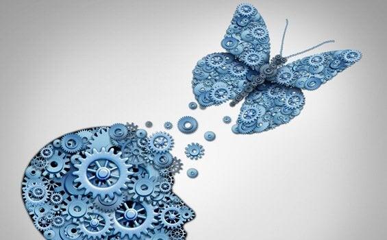 Fjäril och kugghjul.