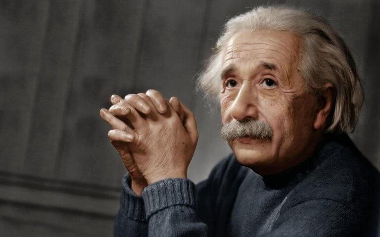 Foto på Einstein.