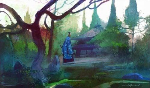 Zen mästare i skogen