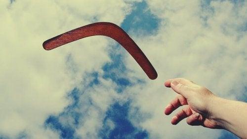 Livet är inte en bumerang