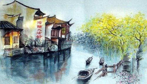 Att korsa floden: en gammal Zen-berättelse