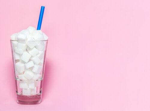 Socker i glas.