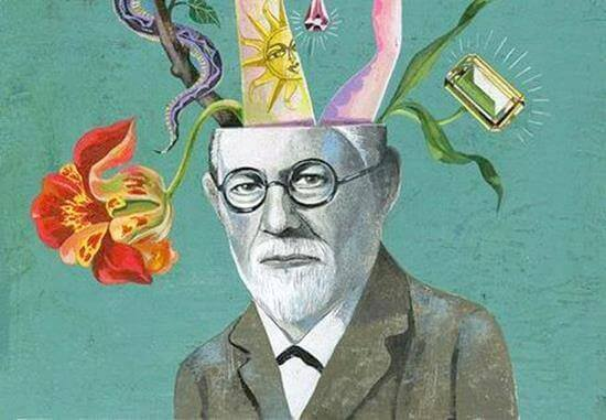 Konstverk som avbildar Freud