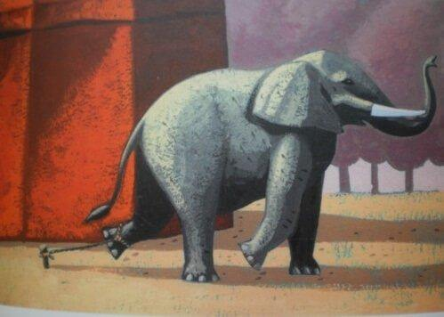 Den tragiska berättelsen om den kedjade elefanten