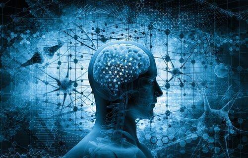 Grafik av en person med en hjärna