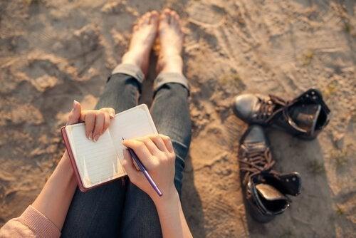 vända negativa tankar till positiva genom att skriva