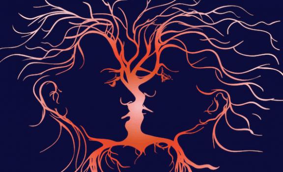 Partners med känslomässig intelligens tittar på varandra