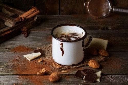 Choklad innehåller denna substans