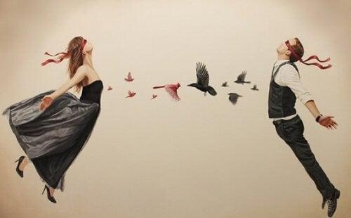 Personer med fåglar