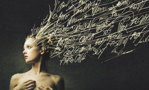 Denna bild symboliserar att ord är lika viktiga som handlingar eftersom de påverkar hjärnan