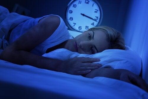 Kvinna som inte kan sova.