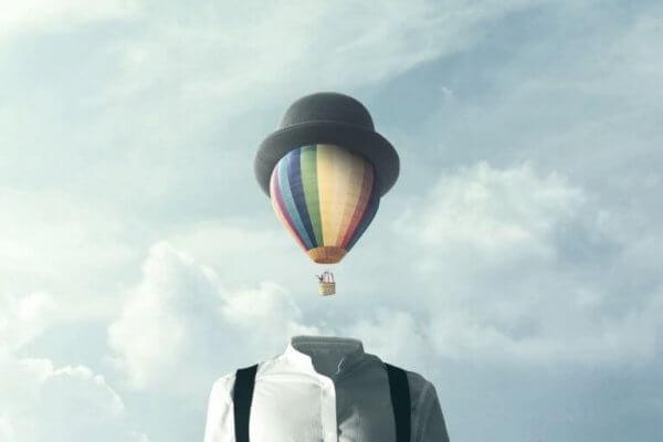 Ballong med hatt