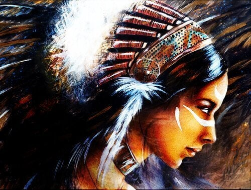 dakotalegenden om den unga kvinnan och vargarna