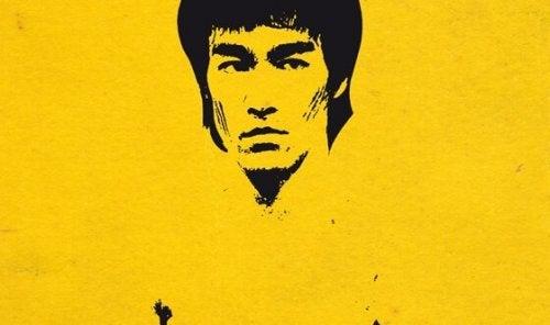 Målning av Bruce Lee