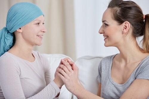 Kvinna med cancer