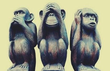Den intressanta metaforen om de tre visa aporna