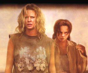Två kvinnor i filmen monster.